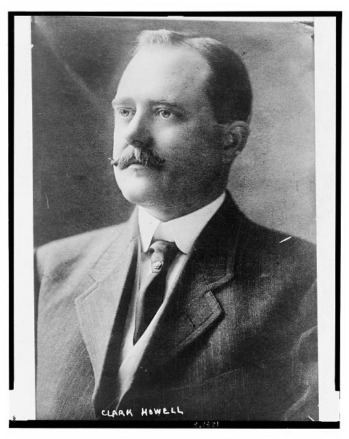 [Clark Howell, editor of the Atlanta Constitution, head-and-shoulders portrait, facing left]