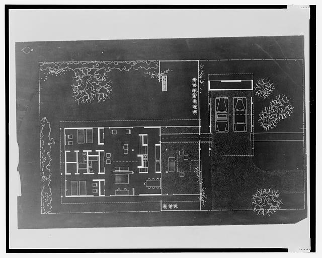 [House for Bourne and Company, St. Petersburg, Florida (project). Plan]