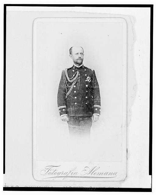 [Don Julio Cervera, three-quarter length portrait, in uniform, facing front]