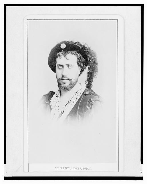 [Jean-Baptiste Faure, French opera singer, head-and-shoulders portrait, in costume as Hamlet, facing left]