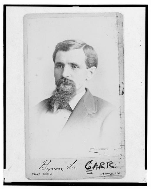 [Byron L. Carr, Colorado attorney general, head-and-shoulders portrait, facing left]