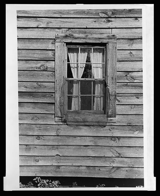 Bedroom window of Bud Fields' home, Hale County, Alabama