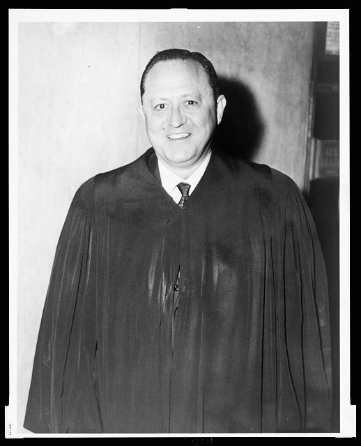 [Irwin D. Davidson, judge, half-length portrait, facing front, wearing judicial robe]