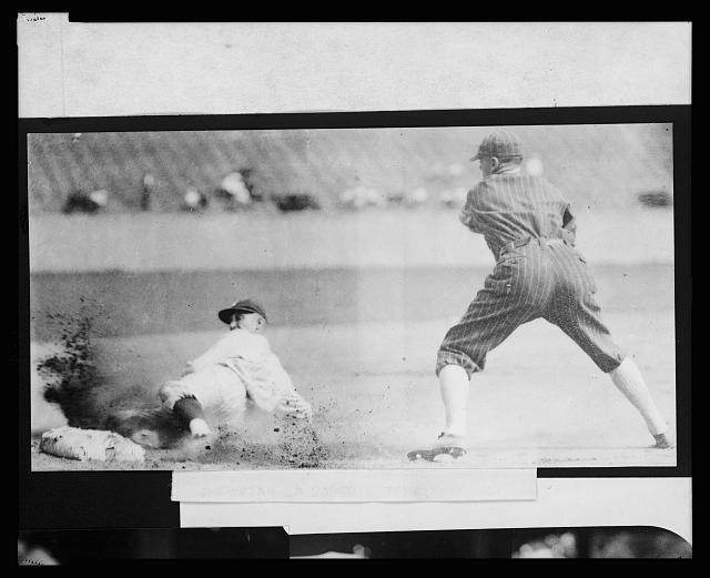 [Sam Rice, of the Washington Nationals, sliding safely into 3rd base during baseball game between Washington and the Chicago White Sox]