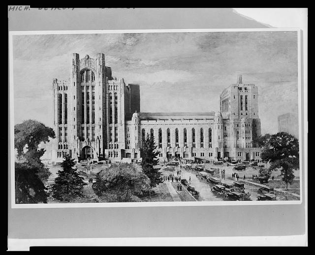 Detroit, Michigan, new Masonic Temple, S.E. view