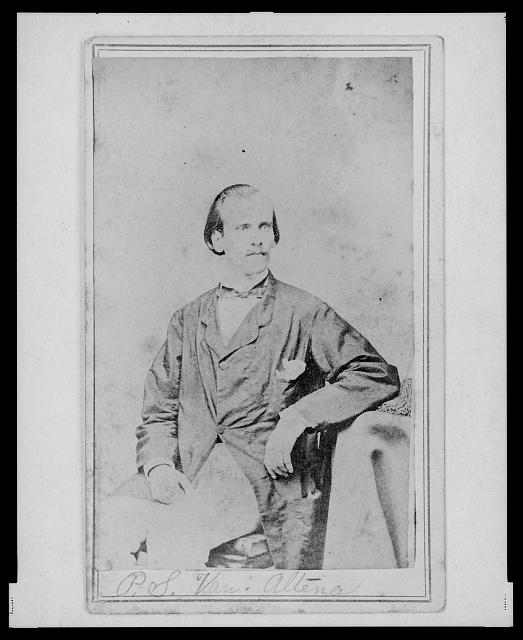 [P.S. van Altena, three-quarter length portrait, seated, facing front]