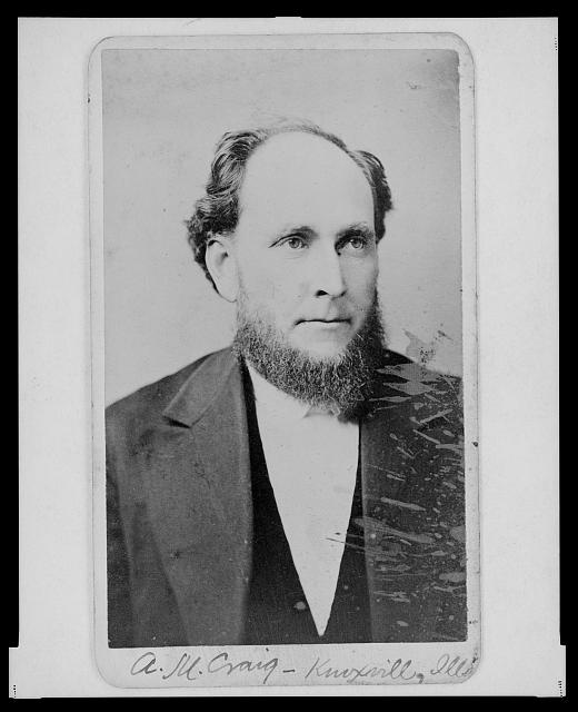 [Alfred M. Craig, Illinois Supreme Court judge, head-and-shoulders portrait, facing front]