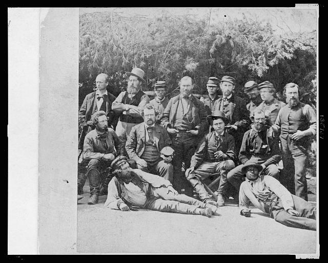 Group at Cumberland, May, 1862