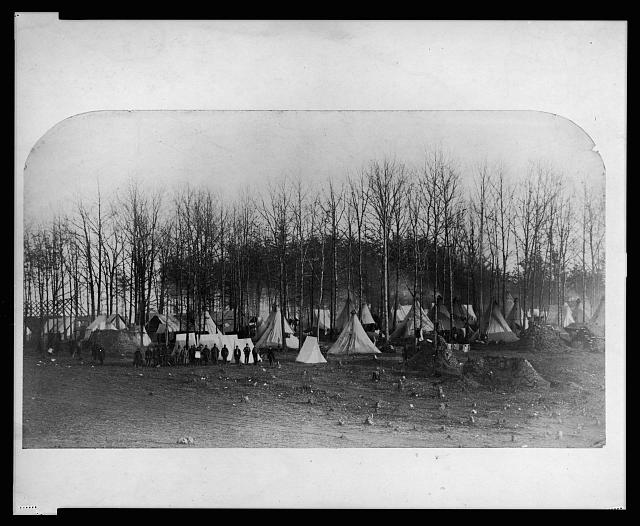 [Camp of 2nd Vermont Volunteers at Camp Griffin, Virginia]