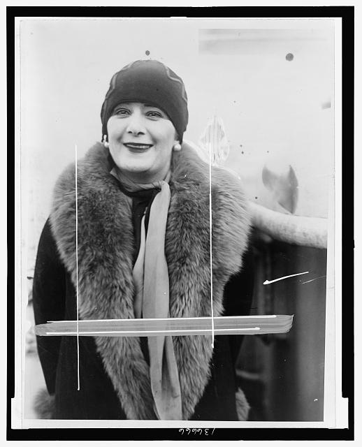 [Princess Murat of Paris, half-length portrait, wearing fur-trimmed coat]
