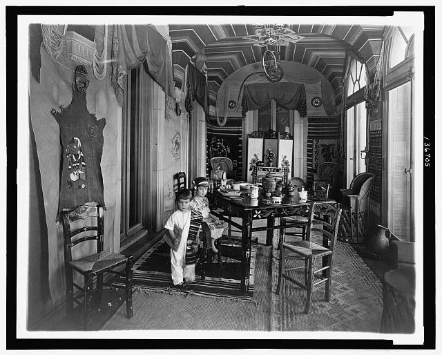 [Emilia and José Tellez, children of  Mexican ambassador Don Manuel Tellez, in the Mexican Room at the Mexican Embassy, Washington, D.C.]