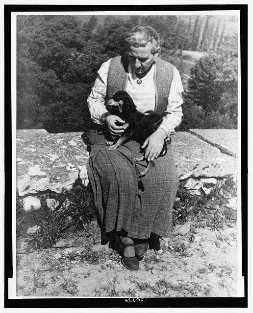 [Portrait of Gertrude Stein, with dog Pepe, Biliguin]