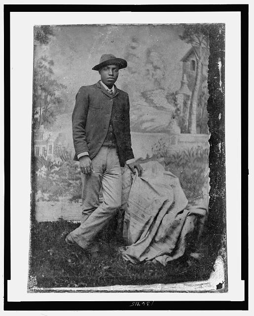 [Full-length portrait of African American man, standing]