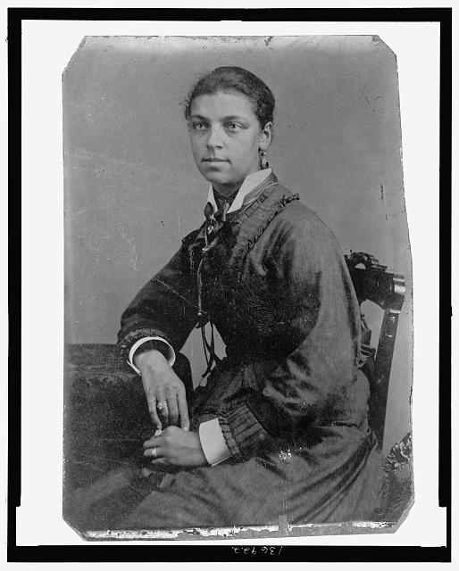 [African American woman, seated]
