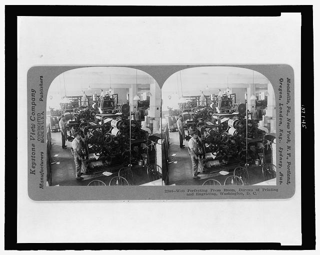 Web perfecting press room, Bureau of Printing and Engraving, Washington, D.C.