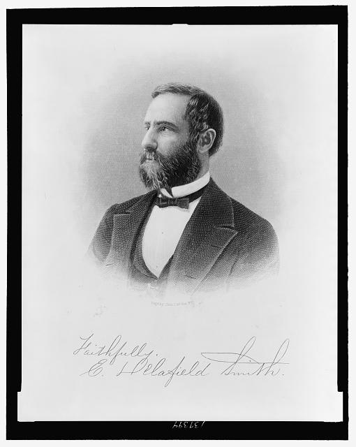 [E. Delafield Smith, head-and-shoulders portrait, facing left]