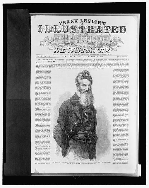 [Front page of Frank Leslie&#39;s illustrated newspaper with picture of John Brown]