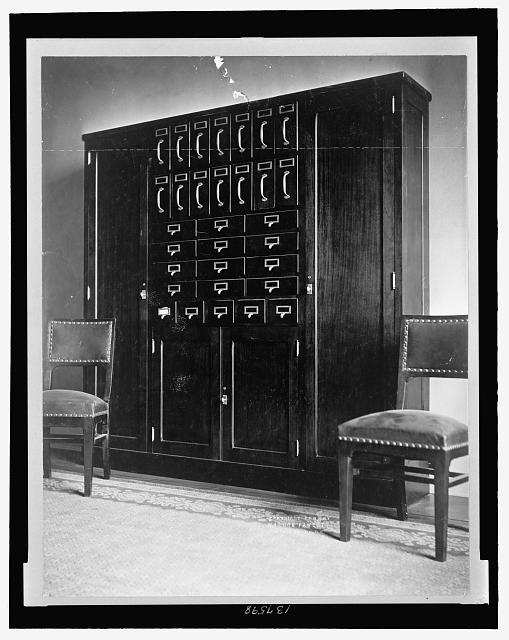 House of Representatives Office Bulding (no. 5). Interior with filing cabinets