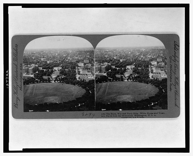 The State, War, and Navy Bldg., White House and Treasury, north from the monument, Washington, U.S.A.