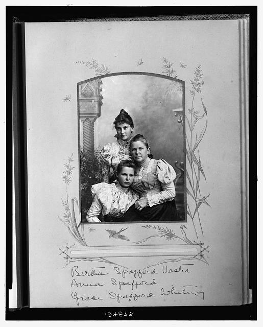 Bertha Spafford Vester, Anna Spafford, and Grace Spafford Whiting