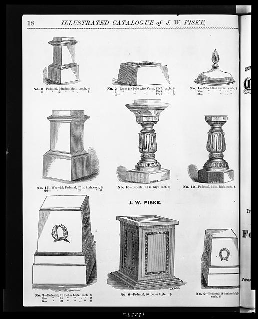 [Designs for ironwork pedestals, bases, and covers for vases]