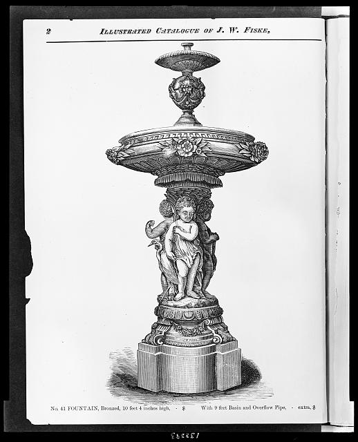 No. 41 fountain, bronzed, 10 feet 4 inches high