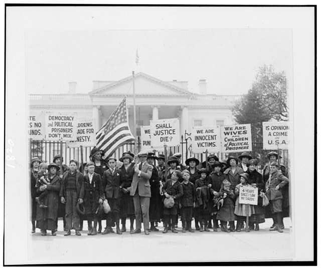 Photograph taken at the White House of the group of children who have come to Wash. to appeal to the President for the release of political prisoners