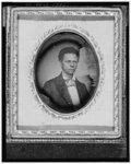 First president of the Republic of Liberia 1848-1856. Joseph Jenkins Roberts, three-quarter length portrait, full  face.