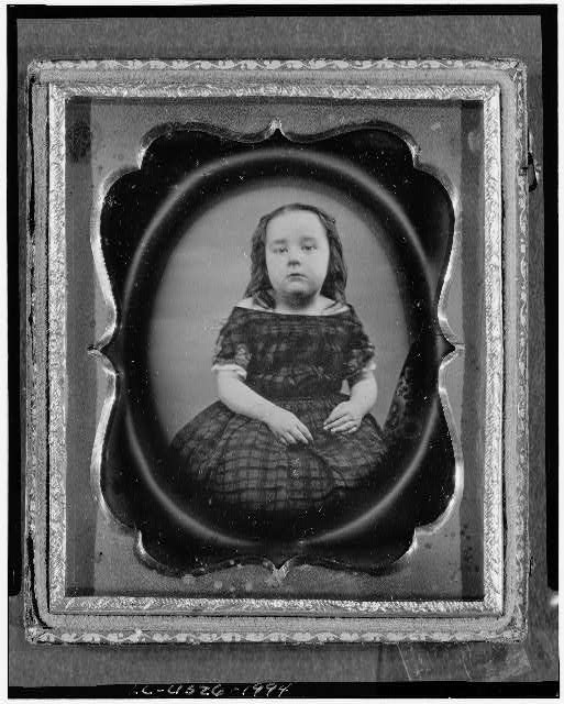 [Anne Dudley Roberts, three-quarter length portrait, facing front, as a girl]