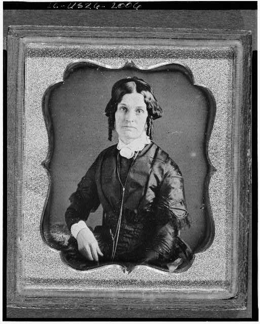 [Joannette Clark Benjamin, three-quarter length portrait of a woman, facing front, seated]