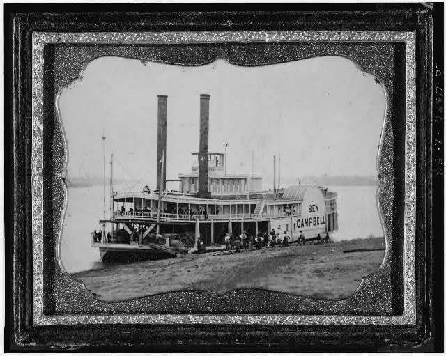 [Ben Campbell, steamship at landing]