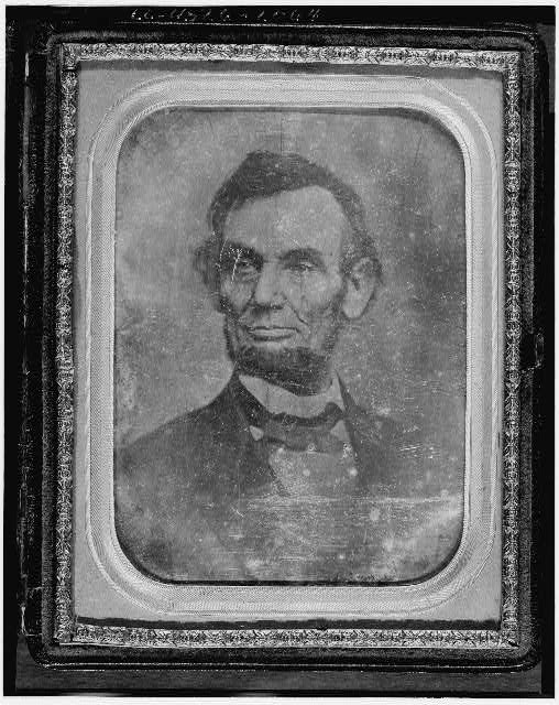 [Abraham Lincoln, head-and-shoulders portrait, facing slightly left]