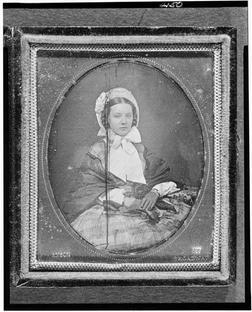 [Augusta Currie Bradhurst Field, three-quarter length portrait of a woman, facing front, seated]