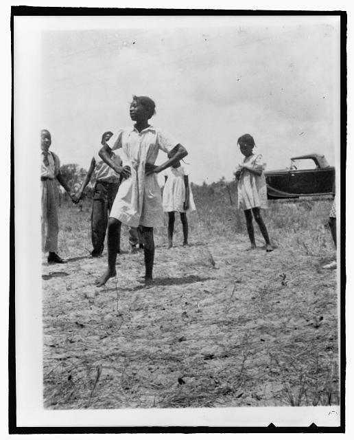 [African American children playing singing games, Eatonville, Florida]