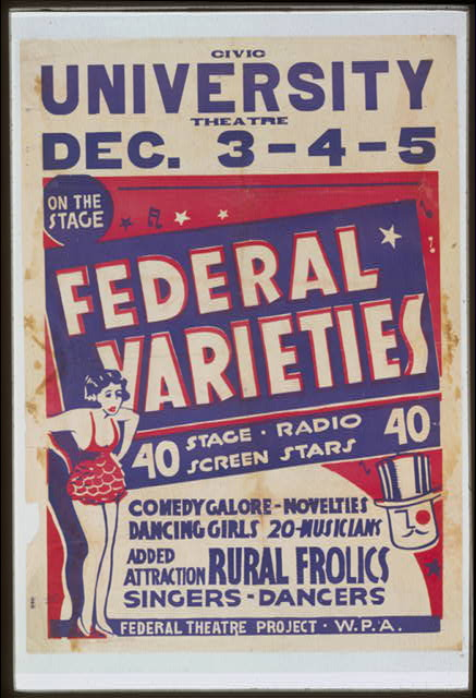 Federal varieties 40 stage, radio, screen stars.