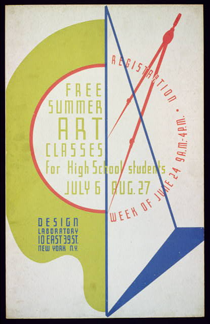 Free summer art classes for high school students