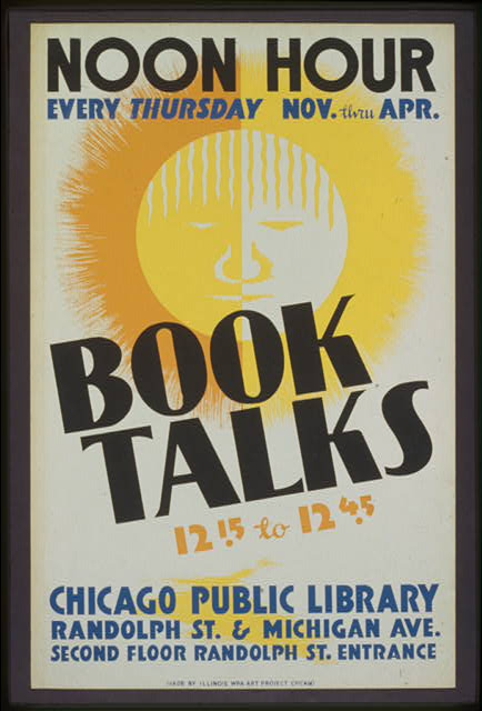 Book talks, 12:15 to 12:45 noon hour, every Thursday Nov. thru Apr.