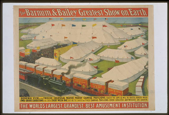 The Barnum & Bailey greatest show on Earth, the world's largest, grandest, best amusement institution