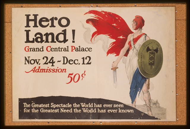 Hero land! Grand Central Palace, Nov. 24 - Dec. 12. Admission 50 cents