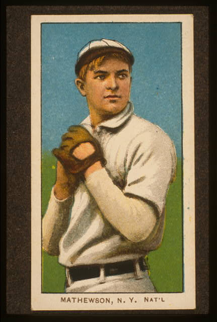 [Christy Mathewson, New York Giants, baseball card portrait]