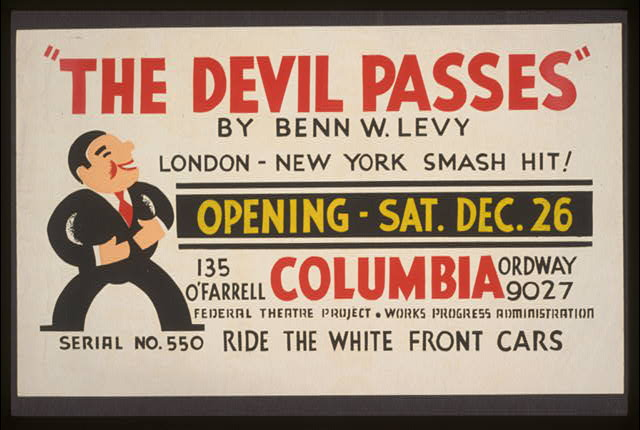 """The devil passes"" by Benn W. Levy"