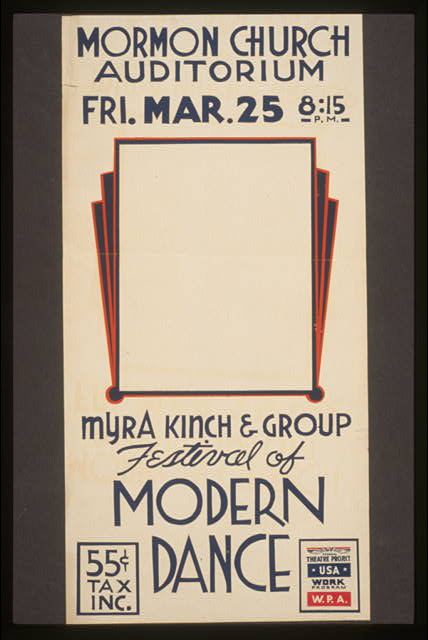 Festival of modern dance Myra Kinch & group.