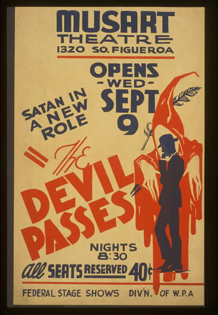 """The devil passes"" Satan in a new role."