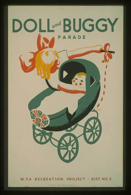 Doll and buggy parade--WPA recreation project, Dist. No. 2