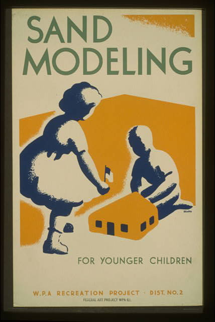 Sand modeling for younger children--WPA recreation project, Dist. No. 2
