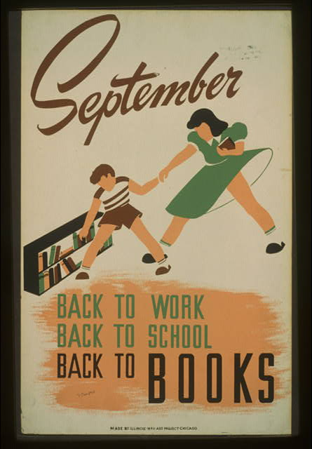 September - back to work - back to school - back to BOOKS