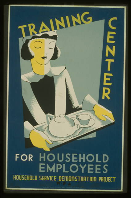 Training center for household employees--Household Service Demonstration Project, W.P.A.