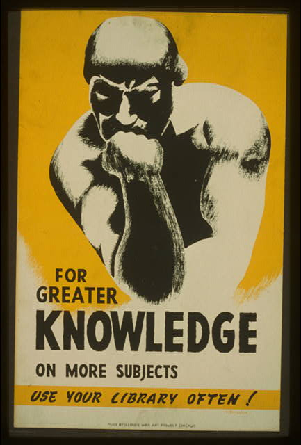 For greater knowledge on more subjects use your library often!