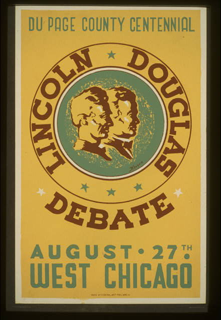 Lincoln Douglas debate Du Page County Centennial, August 27th, West Chicago /