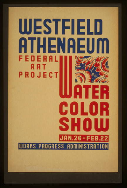 Westfield Athenaeum - Federal Art Project water color show